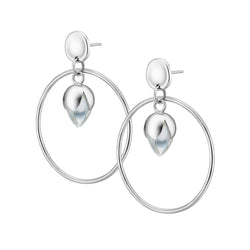 PADMINI RING Earrings - Clear Quartz