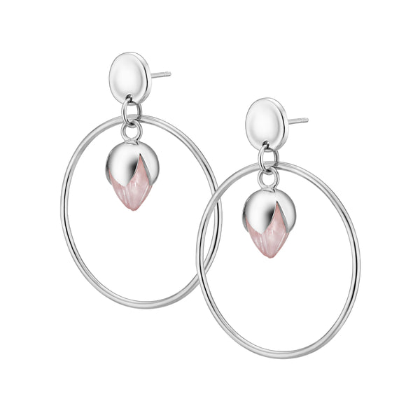 PADMINI Hoop Earrings - Rose Quartz