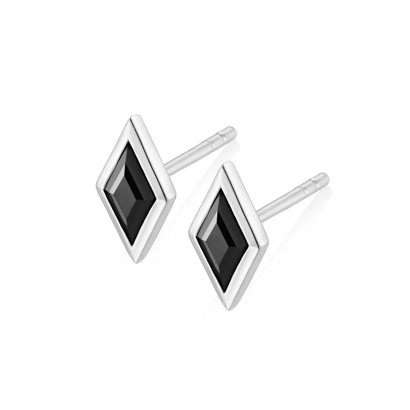 RHOMB Earrings - Black Onyx