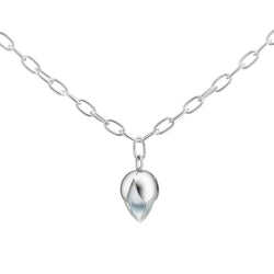 PADMINI Pendant - Clear Quartz (Anchor Chain)