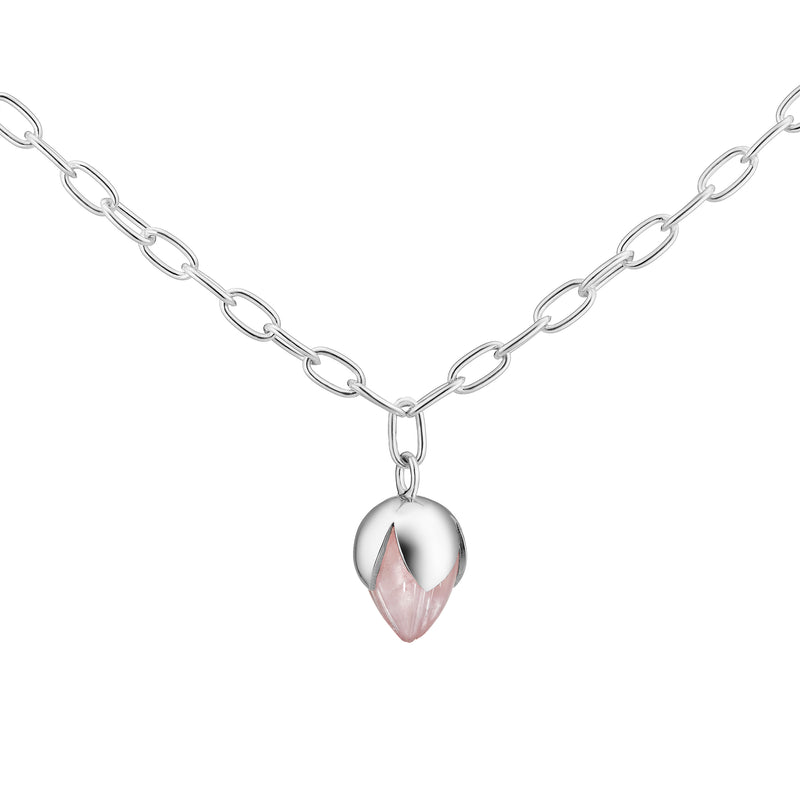 PADMINI Pendant - Rose Quartz (Anchor Chain)