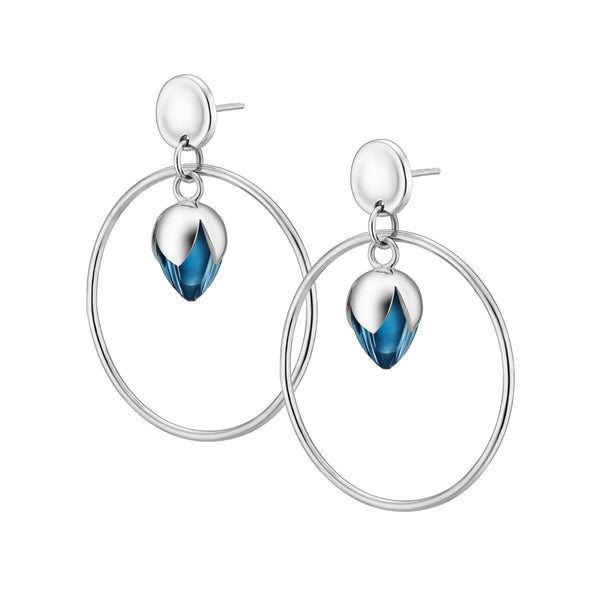 PADMINI Hoop Earrings - Blue Fluorite