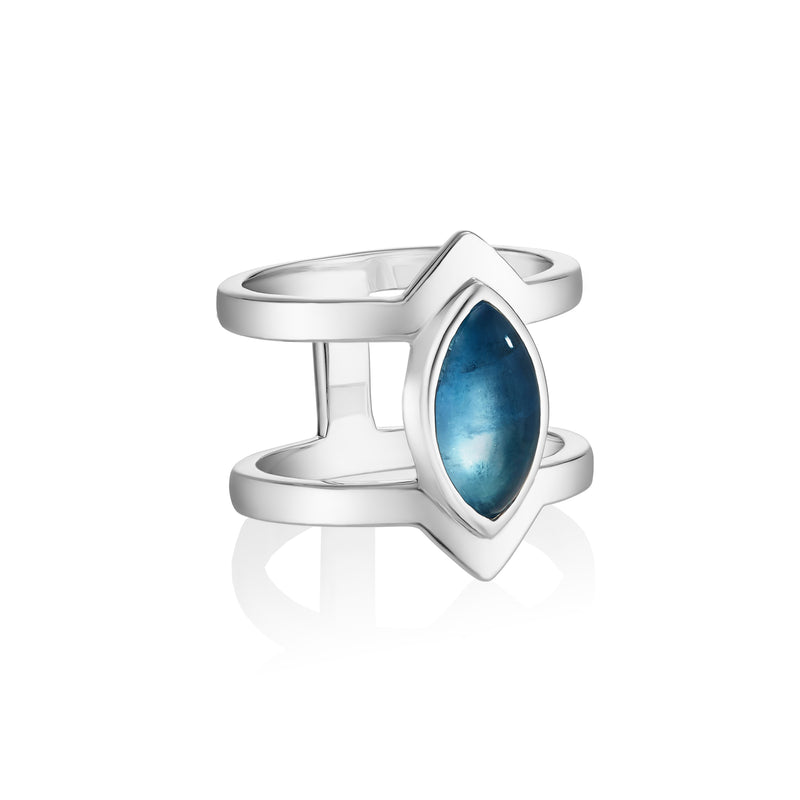 PETALA Double Ring - Blue Fluorite