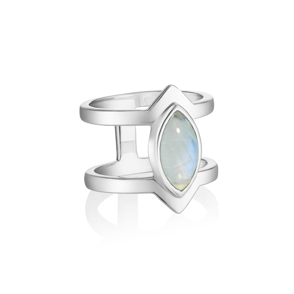 PETALA Double Ring - Moonstone