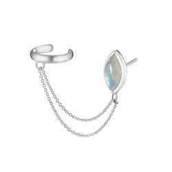 PETALA Earring with cuff - Moonstone