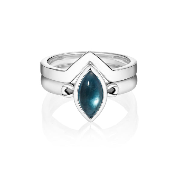 PETALA + LINK Rings Set - Blue Fluorite
