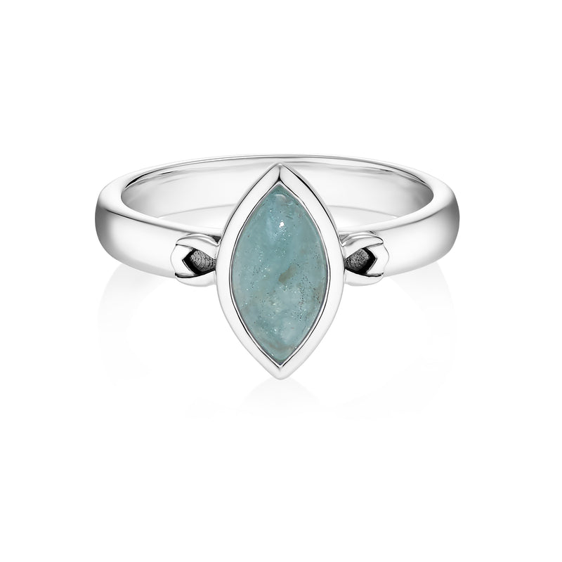PETALA Ring - Aquamarine
