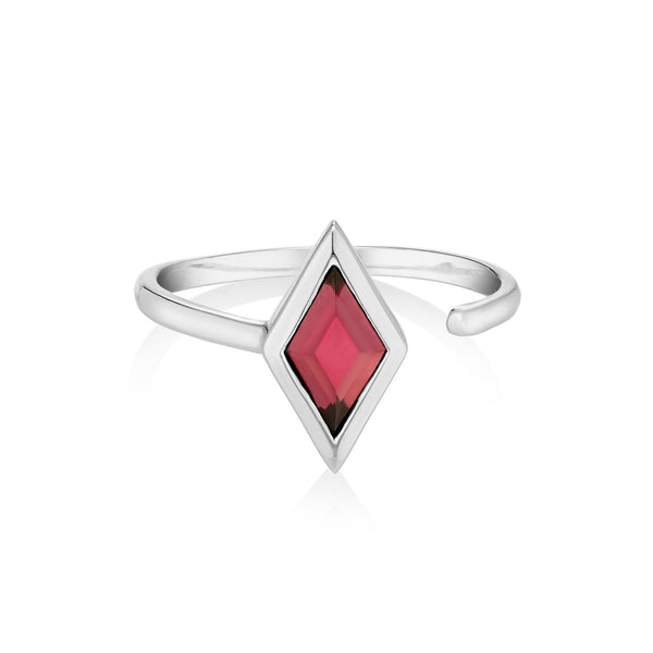 RHOMB Ring - Red Garnet