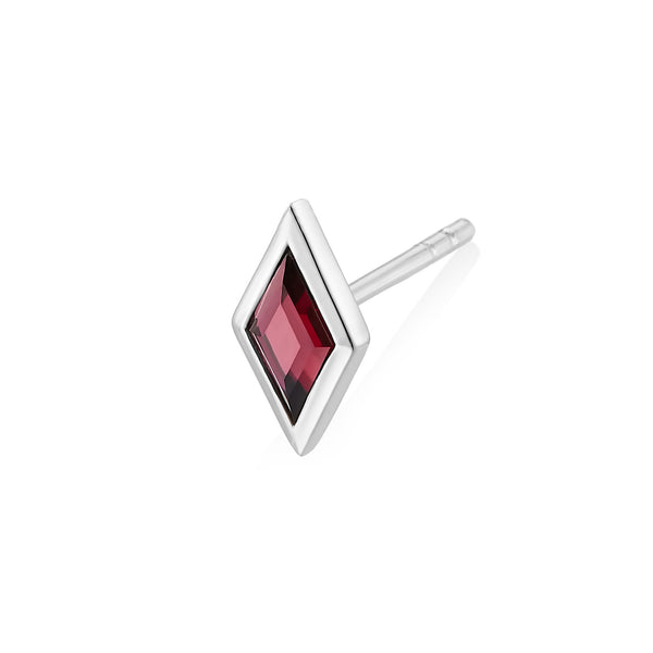 RHOMB Earring - Red Garnet