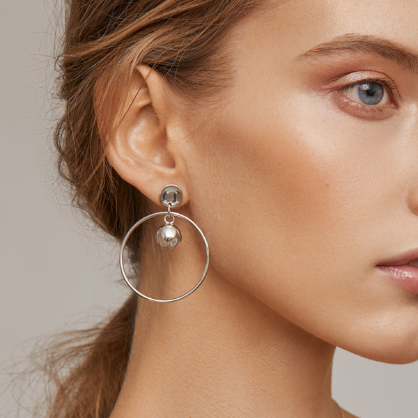PADMINI Hoop Earrings - Quartz Crysatl