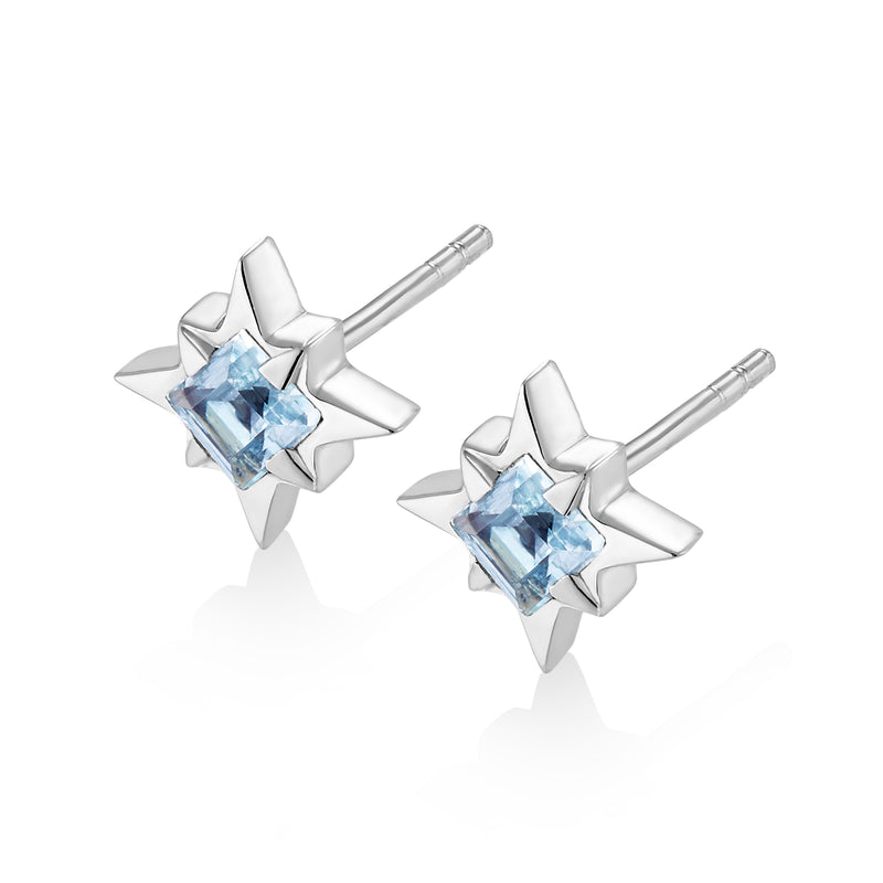 STARDUST Earrings - Blue Topaz