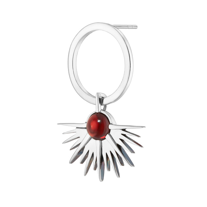 SUNSET Earring - Red Garnet