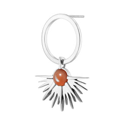 SUNSET Earring - Peach Moonstone