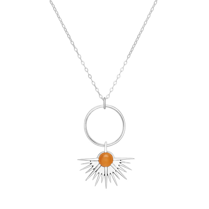 SUNSET Pendant - Orange Moonstone