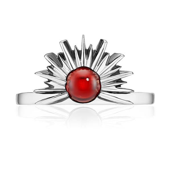 SUNSET Ring - Red Garnet