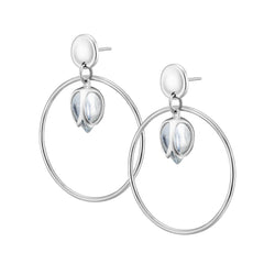 PADMINI 2 Hoop Earrings - Quartz Crystal