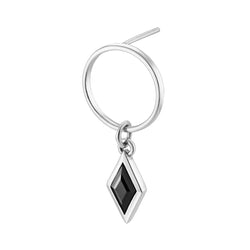 RHOMB ON RING Earring - Black Onyx
