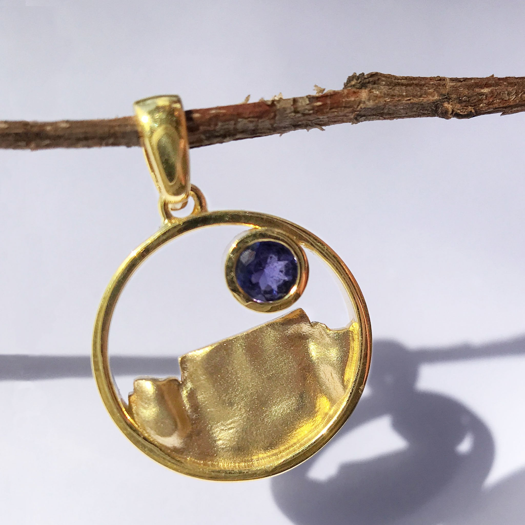 Table Mountain and Tanzanite Pendant