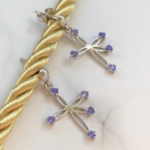 Bow Southern Cross Tanzanite Earrings