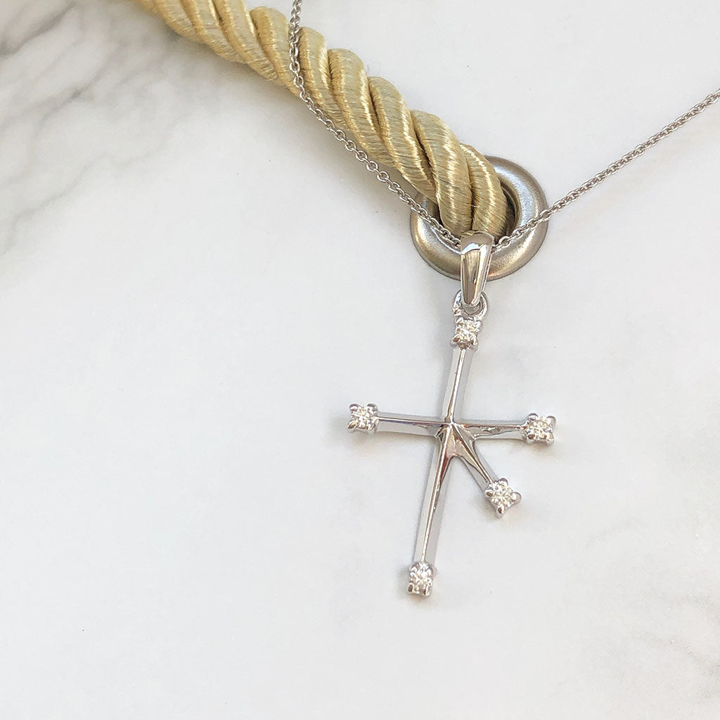 Diamond White Gold Southern Cross Pendant