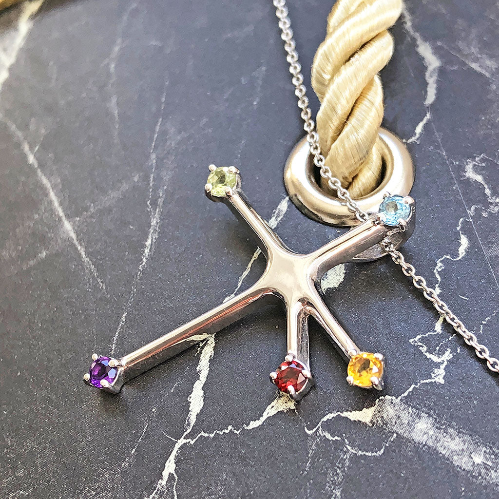 Floating Rainbow Southern Cross Pendant