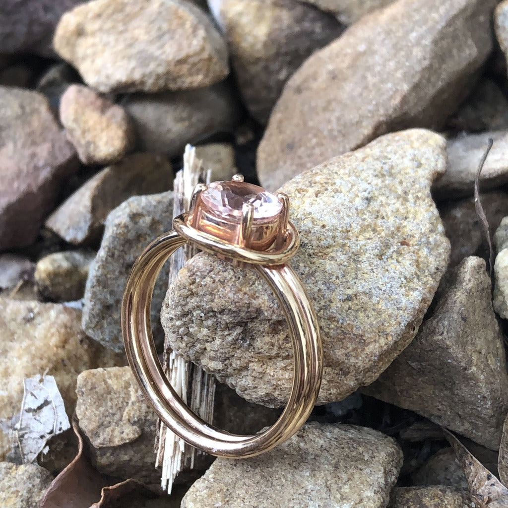 Handcrafted Morganite Ring