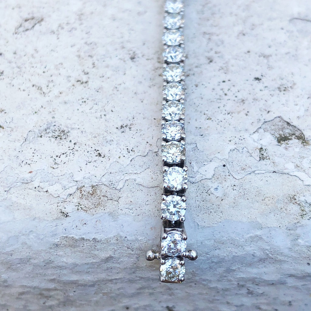 5ct White Diamond Tennis Bracelet