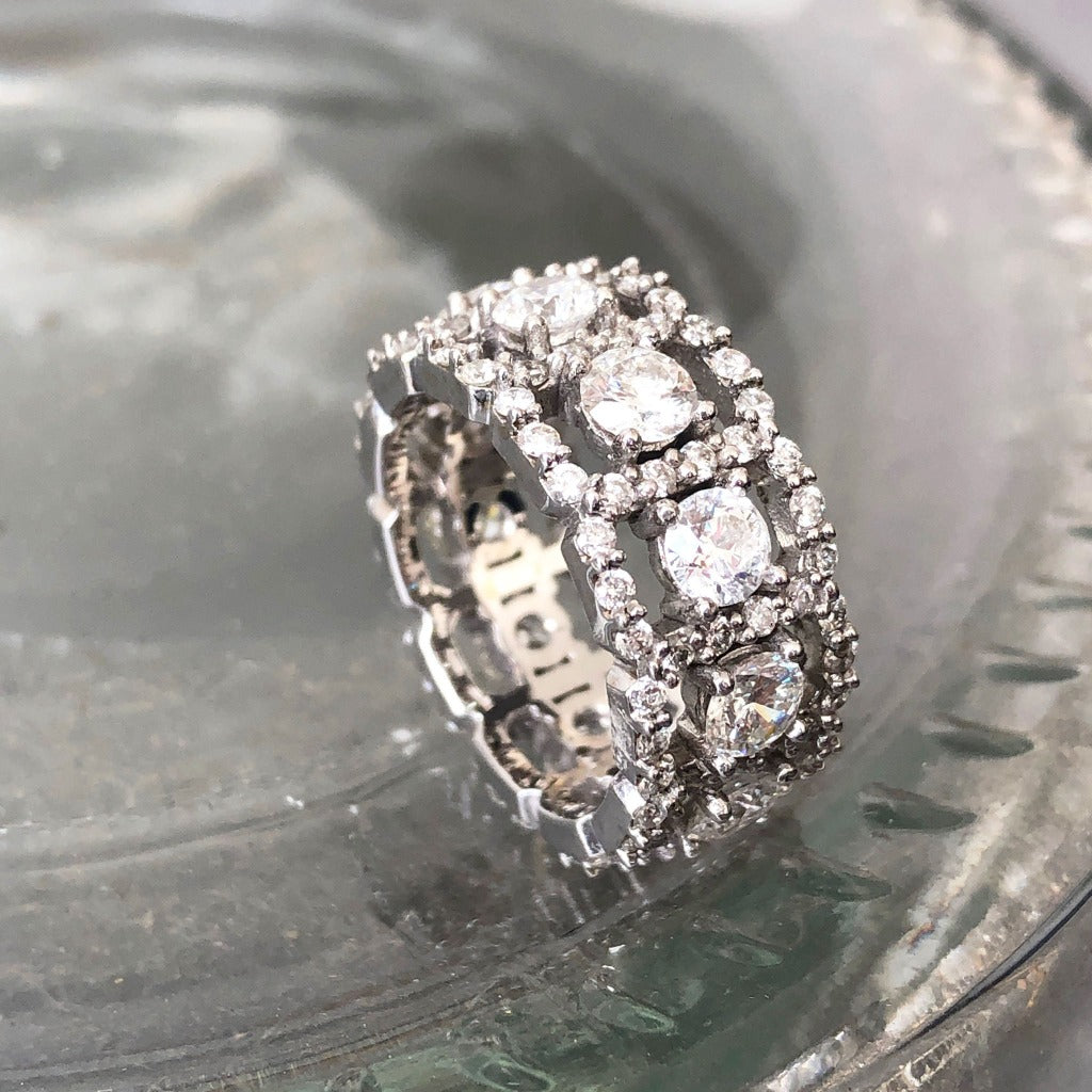 Sparkling Multi Diamond Band