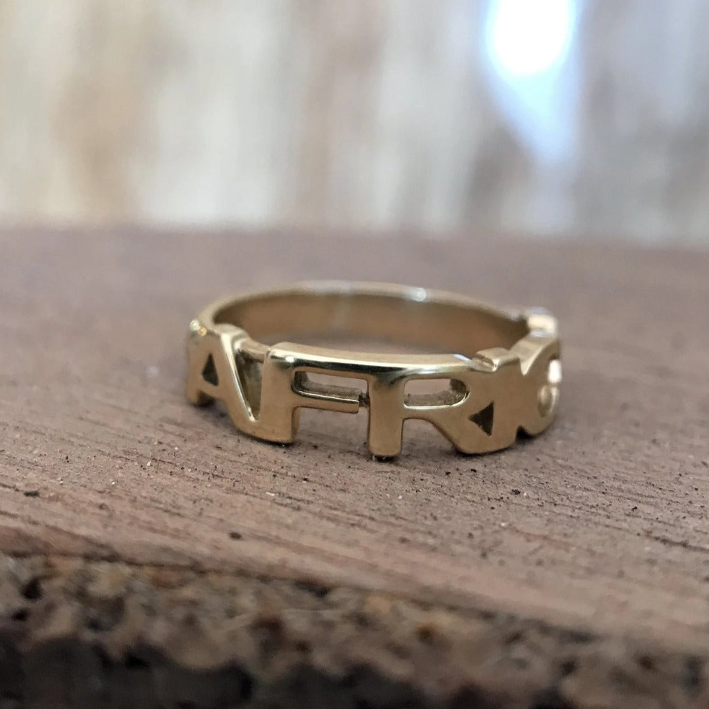 Gold Africa Ring