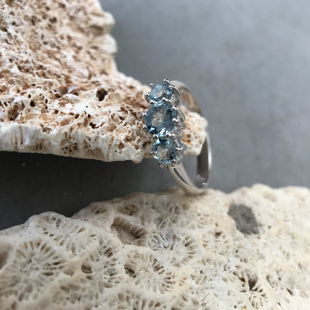 Trilogy Aquamarine Ring