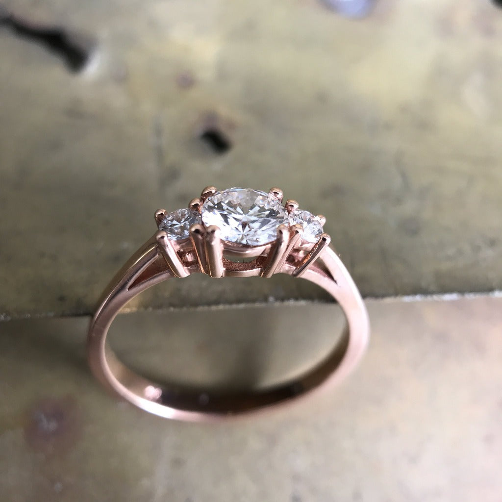 Trilogy Rose Gold Diamond Ring