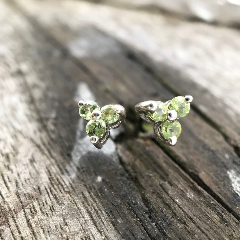Trilogy Peridot Stud Earrings