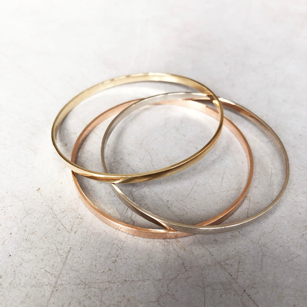 Handcrafted Yellow Gold Bangle Media 1 of 1