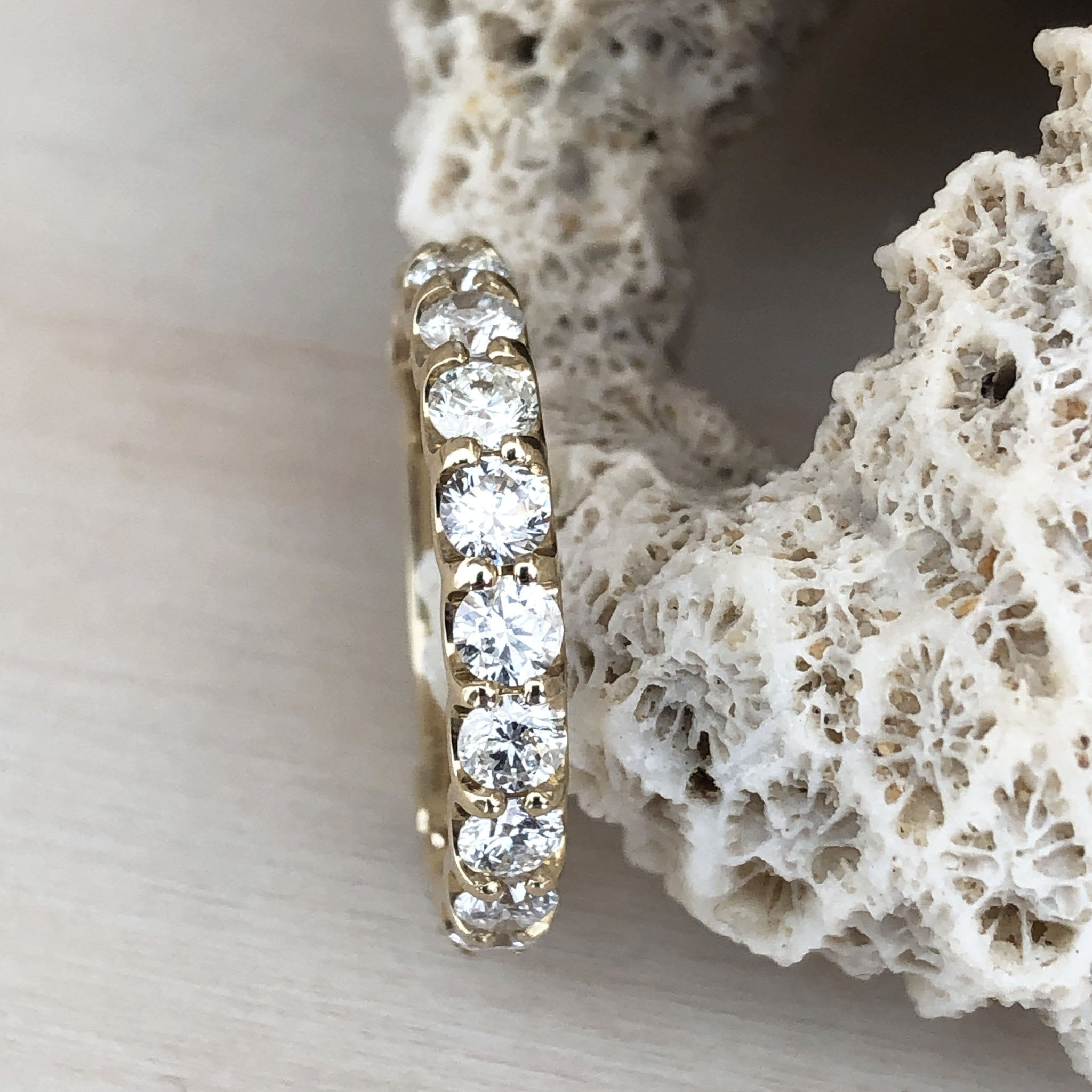 Yellow Gold 15 Diamond 3/4 Eternity Ring
