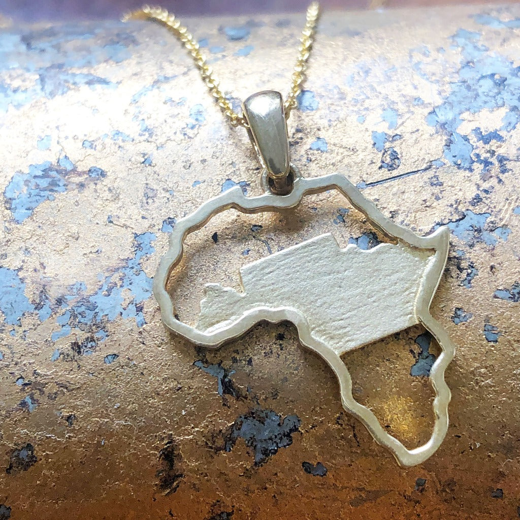 Table Mountain and Africa Map pendant