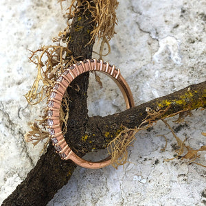 Slim Half Eternity Rose Gold Diamond Ring