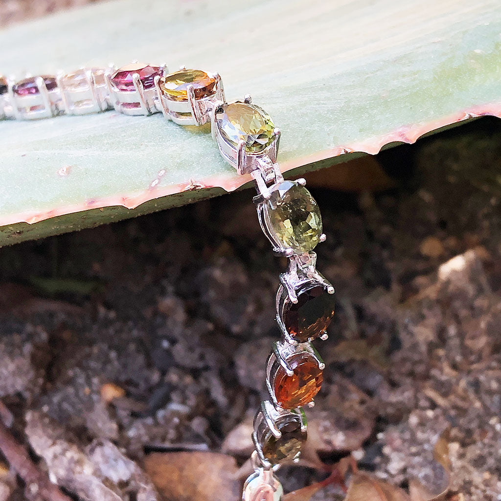 Mixed Smokey Tone Tourmaline Bracelet
