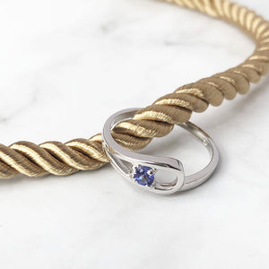 Solitaire Loop Tanzanite Ring