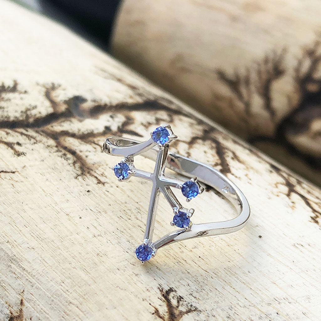 Southern Cross Tanzanite White Gold Ring