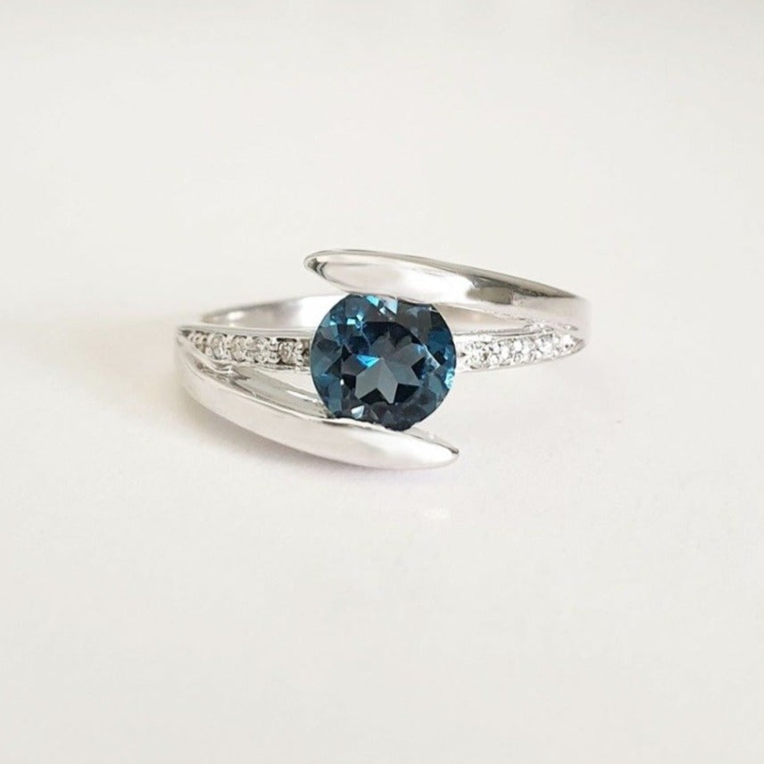 Symbolic London Blue Topaz Ring