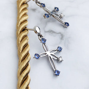 Tanzanite & Diamond Southern Cross Earrings