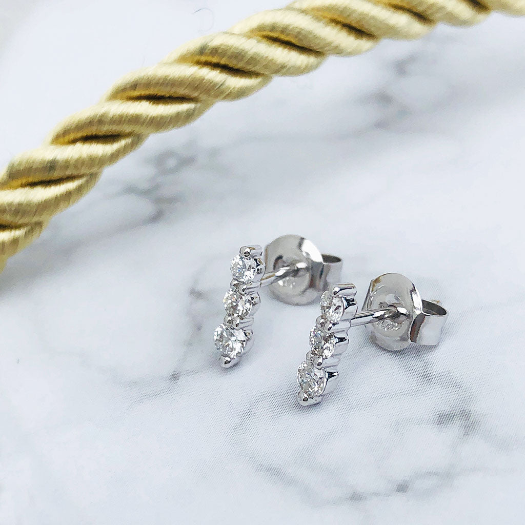 Trilogy Diamond Drop Studs