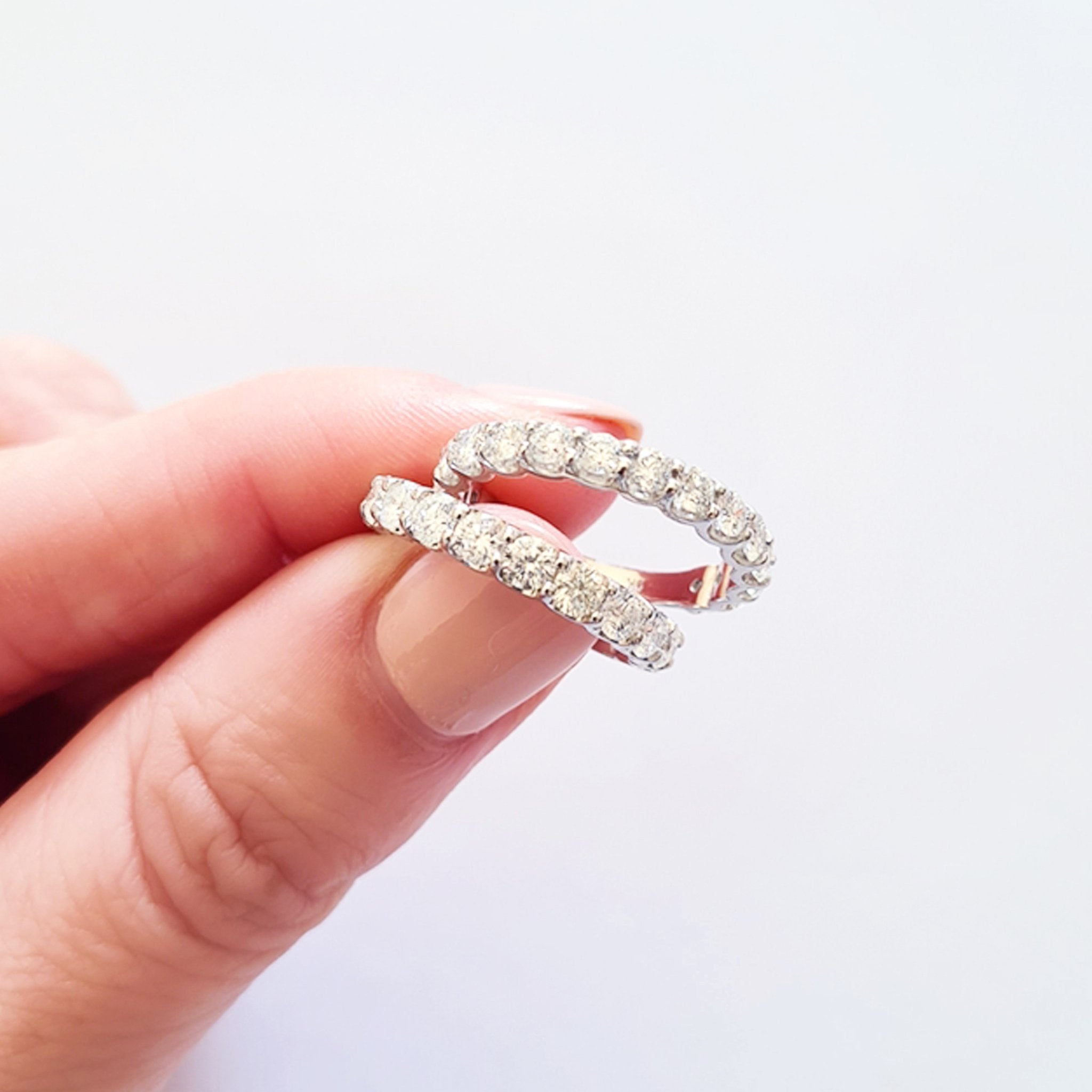 White Gold 17 Diamond 3/4 Eternity Ring
