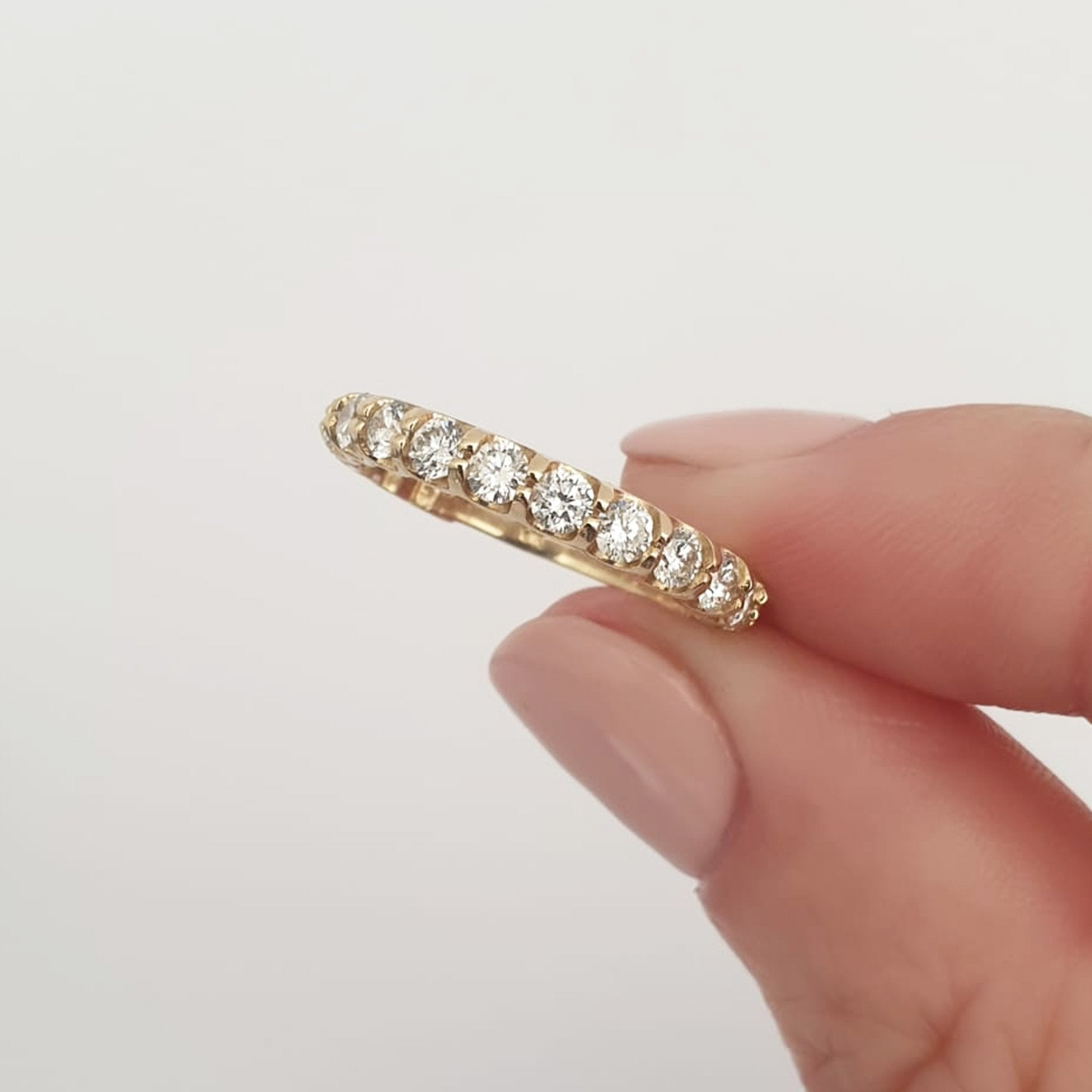 Yellow Gold 17 Diamond 3/4 Eternity Ring