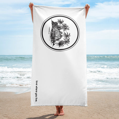 Summer House Beach Towel