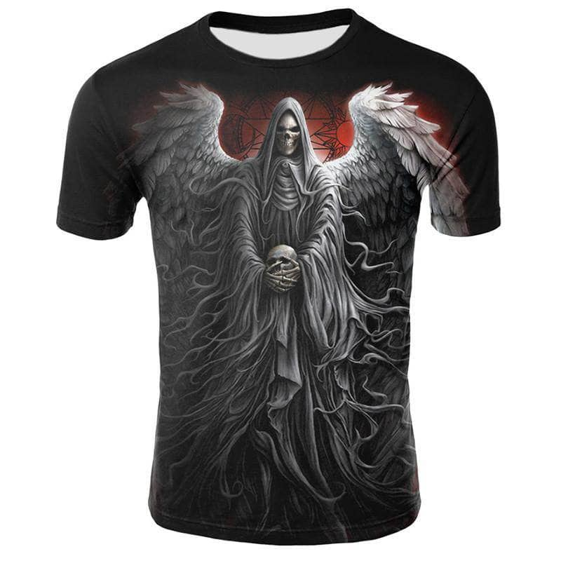 T-Shirt Tete de Mort Angel Death
