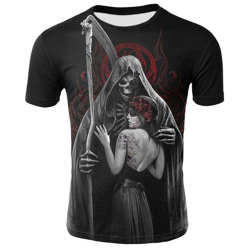 T-Shirt Tete de Mort Faucheuse Mexicaine