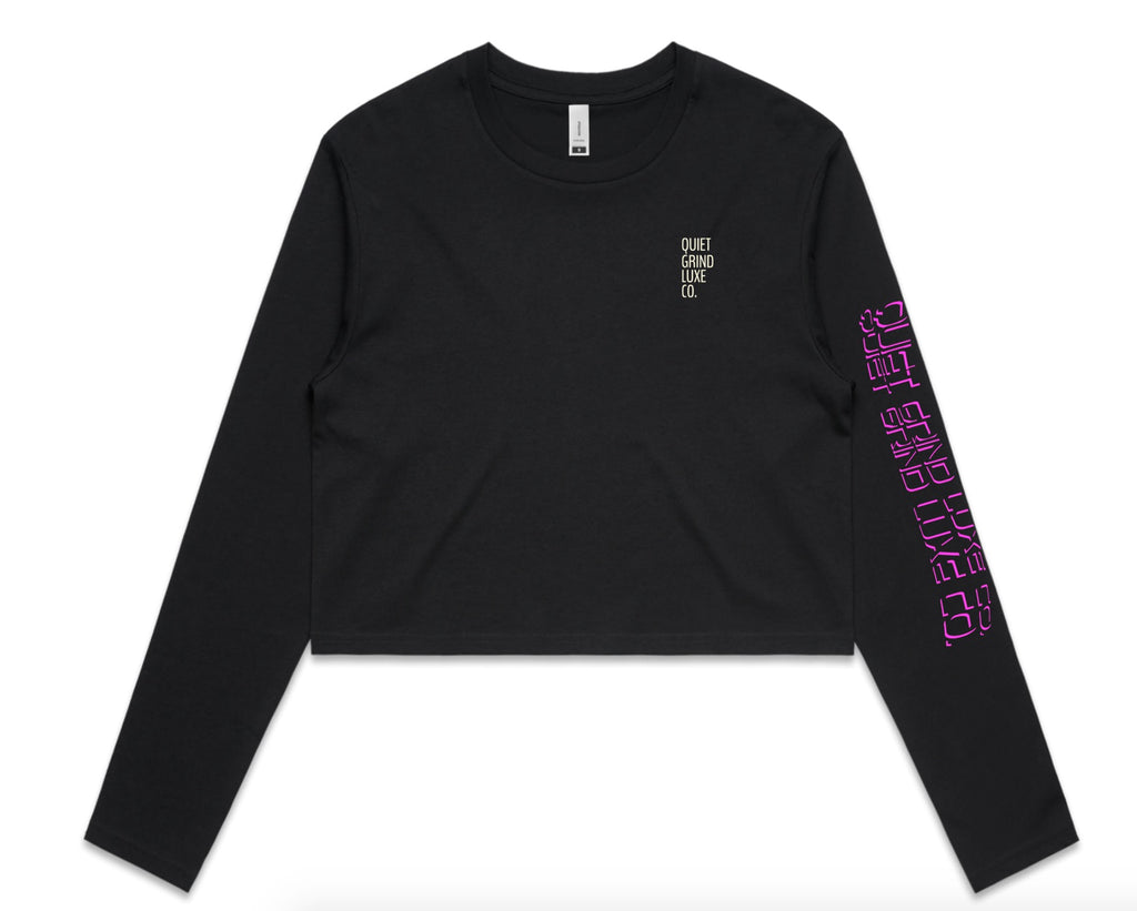 Cropped Long Sleeve Graphic Tee