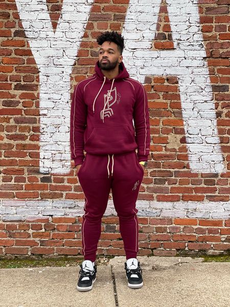 Signature Sweatsuit in Cranberry