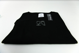 Monochrome Embroidered Supima Tee Black